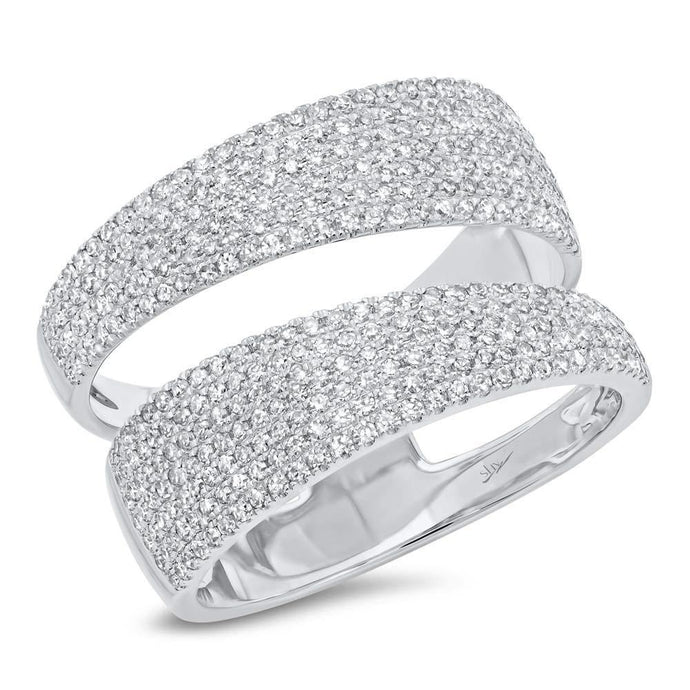 14k White Gold Diamond Wrap Ring