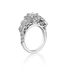 Load image into Gallery viewer, Henri Daussi  Halo Diamond Engagement Ring