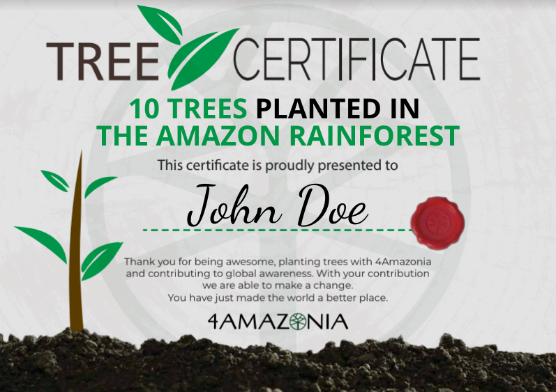 IMPACT Certificate (Plants 10 Trees)