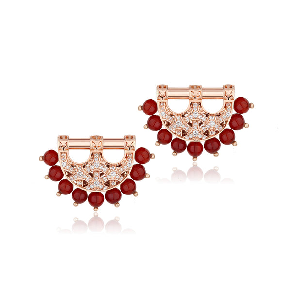 Al Noor Heritage Earrings in Agate - Misk Dubai
