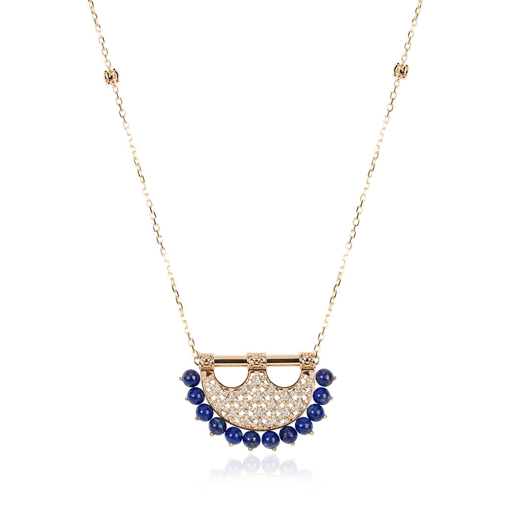 Al Noor Heritage Lapis Pendant in Medium Model