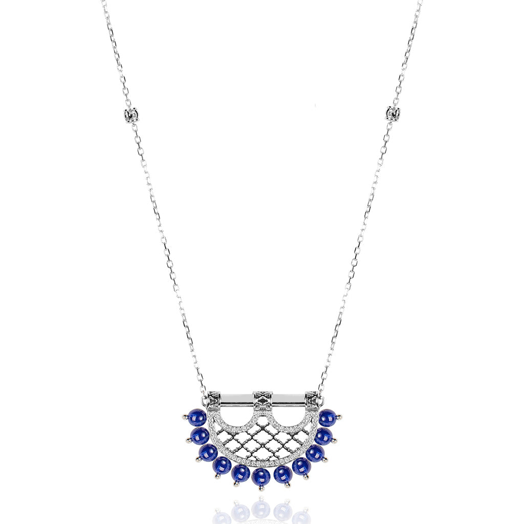 Al Noor Heritage Lapis Pendant in Small Model