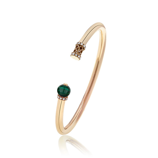 Al Noor Heritage Bangle in Malachite - Misk Dubai
