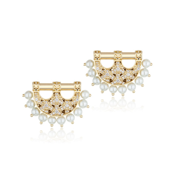 Al Noor Heritage Earrings in Pearl - Misk Dubai