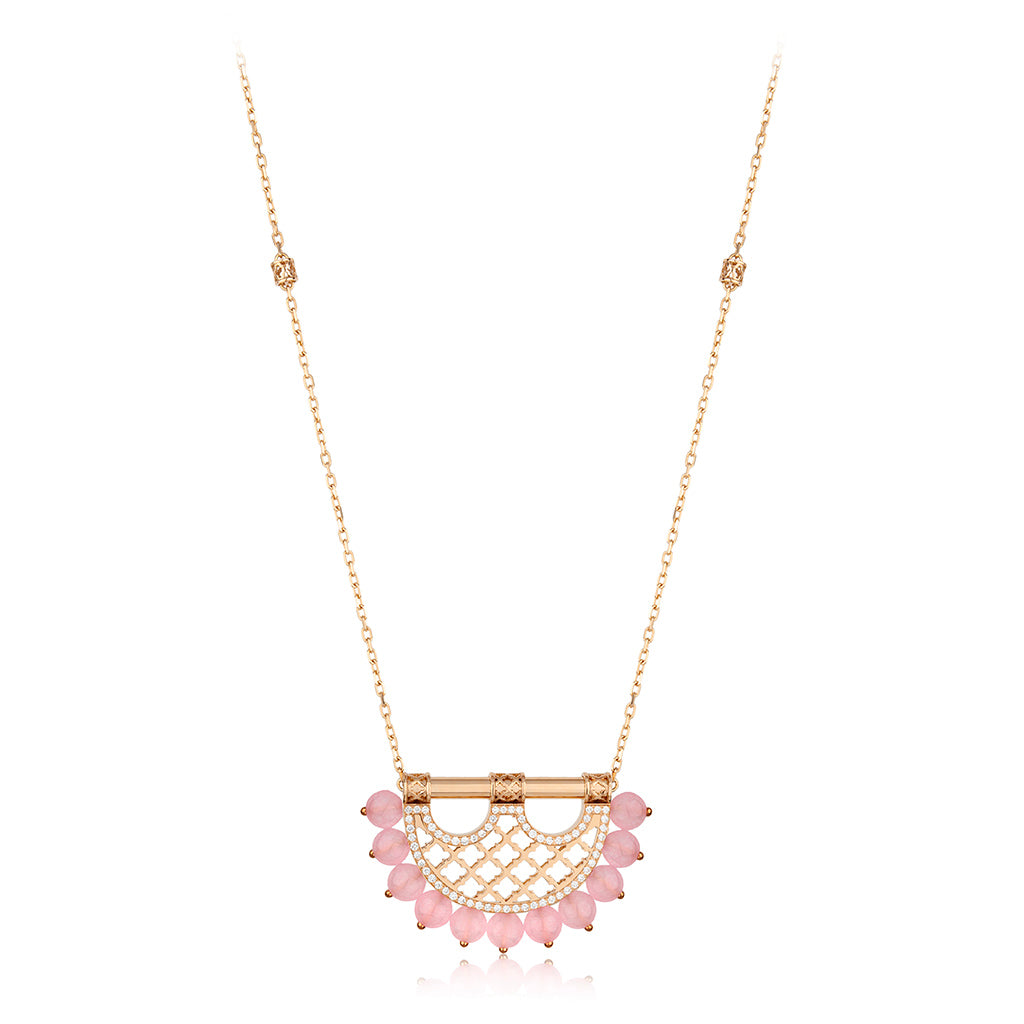 Al Noor Heritage Pendant Rose Quartz in Small Model - Misk Dubai