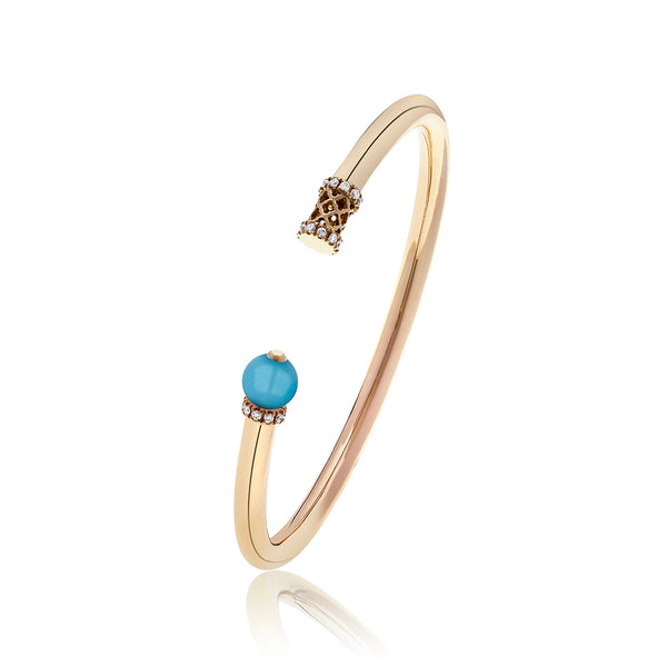 Al Noor Heritage Bangle in Turquoise - Misk Dubai