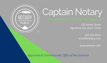 Load image into Gallery viewer, Nautical Notary Business Card
