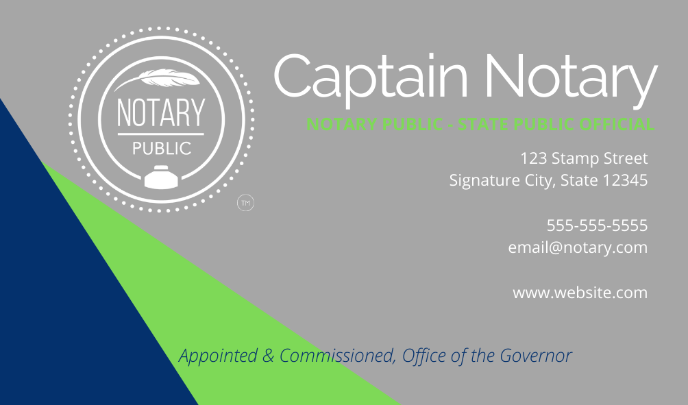 Nautical Notary Business Card