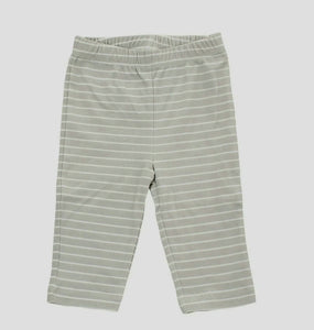 Organic Cotton Pullover Grey Stripe Pant