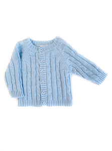 Cable Knit Blue Sweater