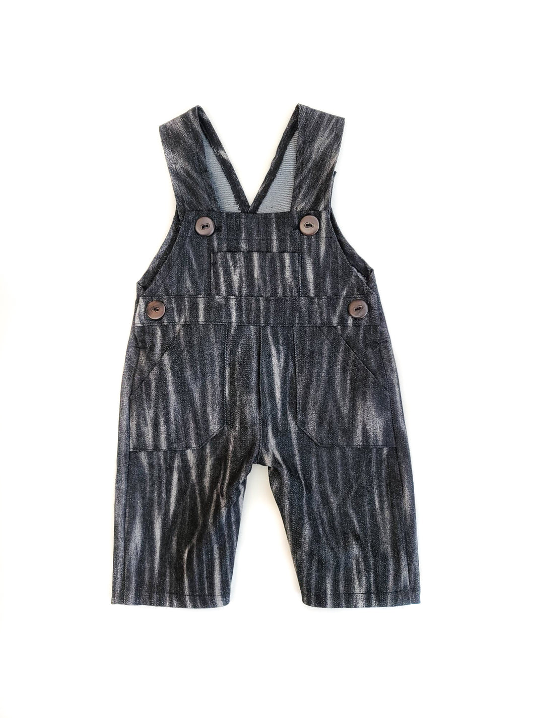 Distressed Black Coveralls