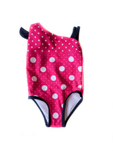 Load image into Gallery viewer, Polka Dot Pink 1 Piece Swimsuit