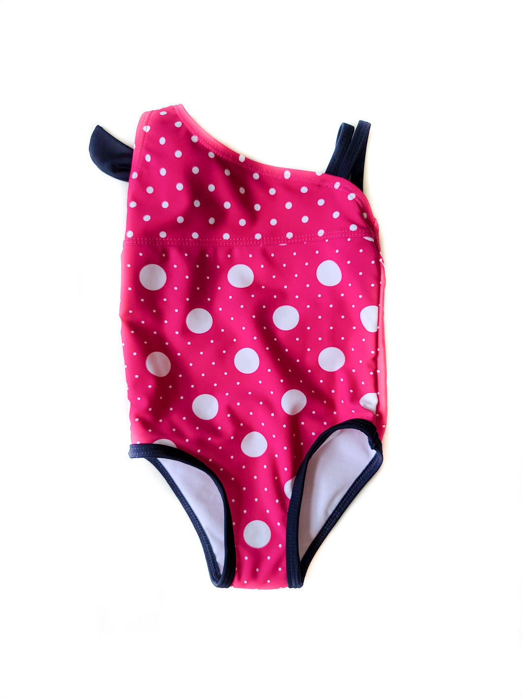 Polka Dot Pink 1 Piece Swimsuit