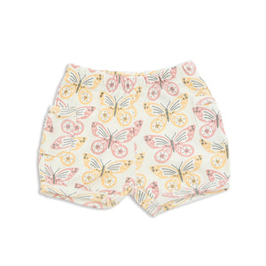 Organic Cotton Pocket Shorts-Butterfly