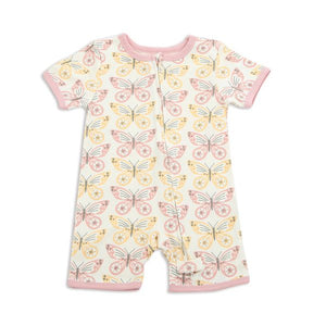 Organic Cotton Short Sleeve Butterfly Romper