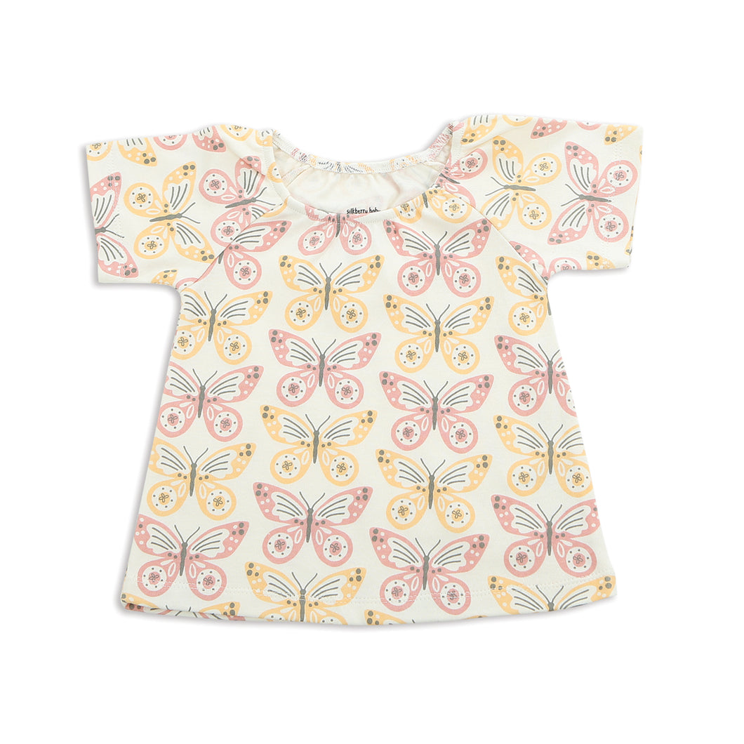 Organic Cotton Swing Top-Butterfly