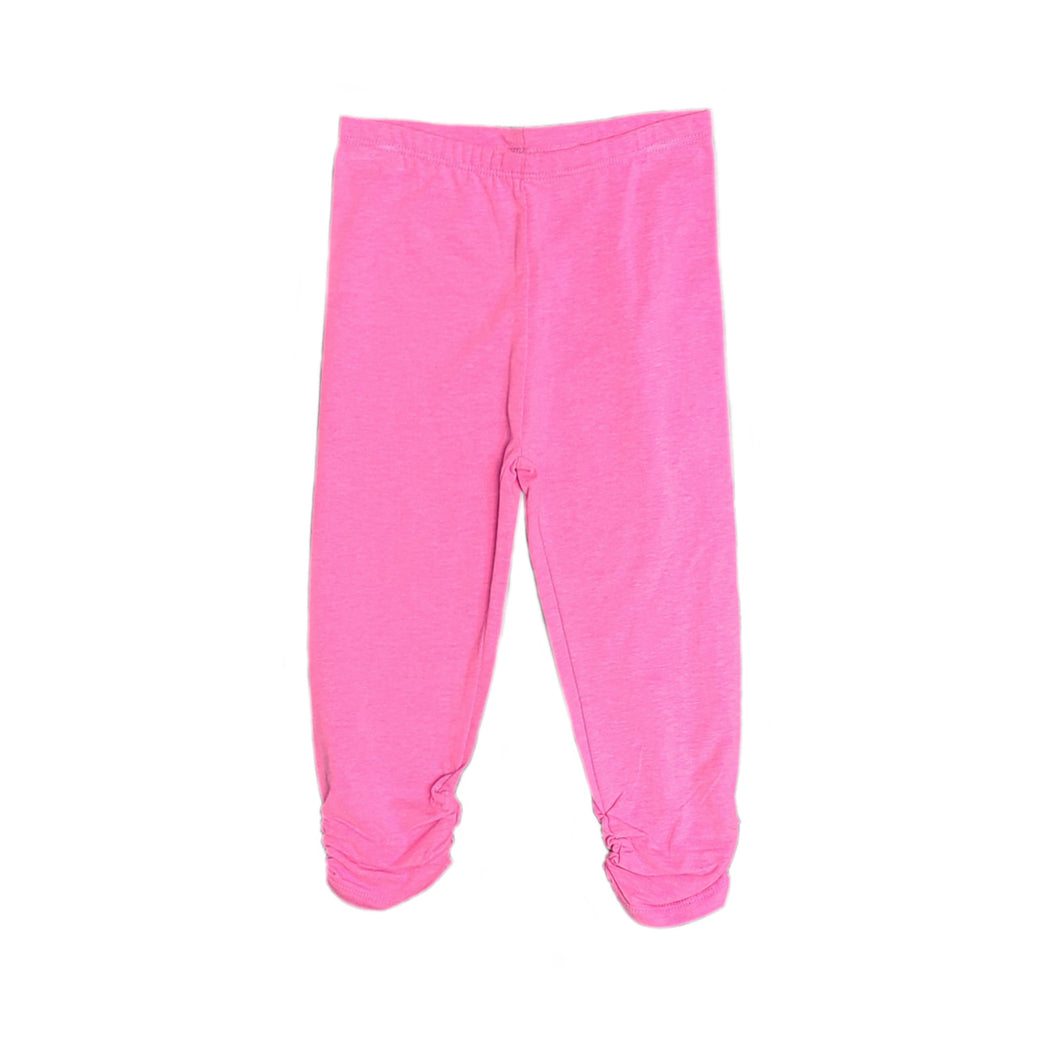 Pink Ankle Ruffle Leggings