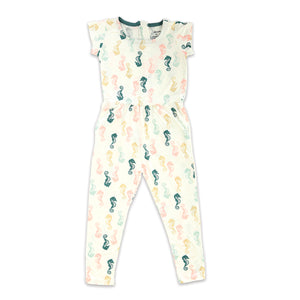 Bamboo Zippered Coverall Seahorses