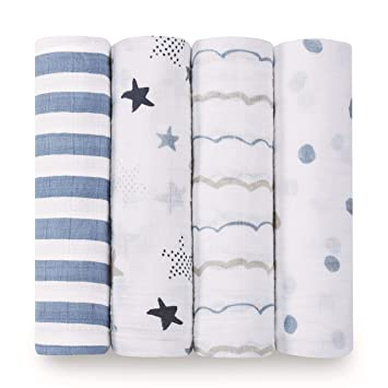 Aden and Anais Rockstar Swaddle Set