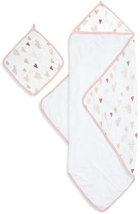 Aden & Anais Hooded Towel Set-Heartbreaker