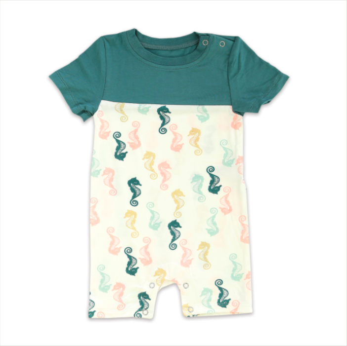 Seahorse Bamboo Short Sleeve Romper