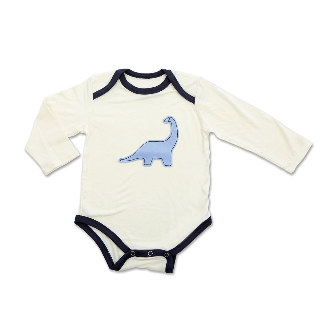 Dino Bamboo Long Sleeve Onesie