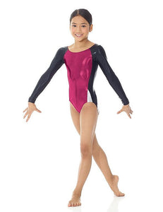 Mondor Long Sleeves Metallic Leotard