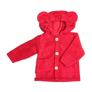 Hooded Fleece Button Up