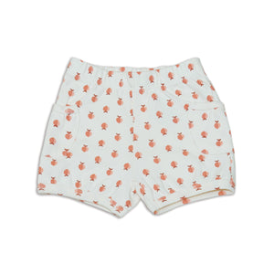 Organic Cotton Pocket Shorts-Peachy Keen