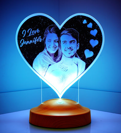 Big Heart Personalized Photo 3D Light