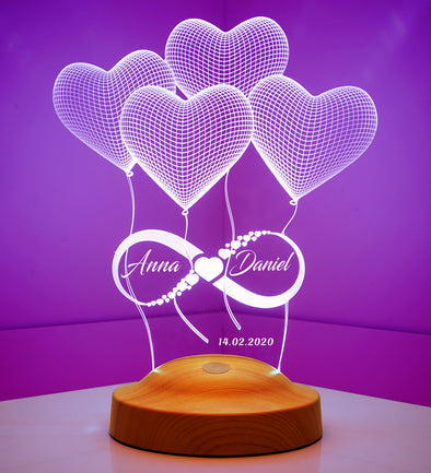 Endless Love Personalized 3D Light