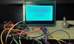 Interfacing 128 x 64 LCD Module with Arduino (1/3): Potentiometer