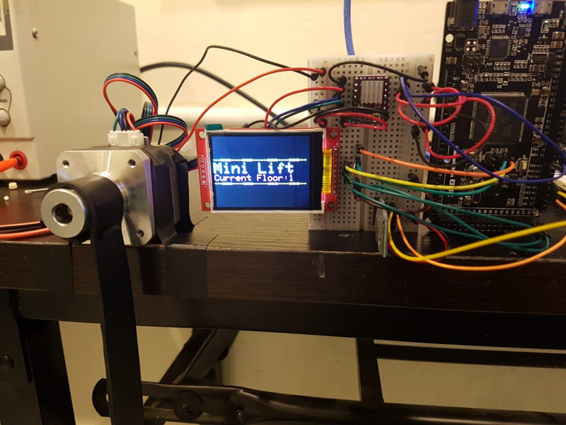 Bluetooth-Controlled Mini Lift Using Stepper Motor with Android Mobile App