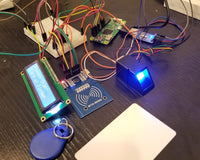RFID and Biometric Door Lock system using Raspberry Pi ZeroW with MySQL database