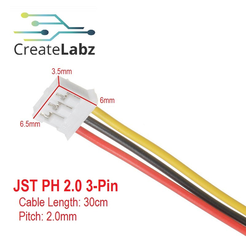 JST PH2.0 / XH2.5  Single Head Wire Connector 30cm, (Option: 2pin / 3pin)
