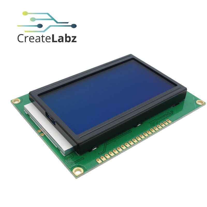 128x64 LCD Module, 5V ST7920 Parallel Port (Blue, Yellow Green Screen)