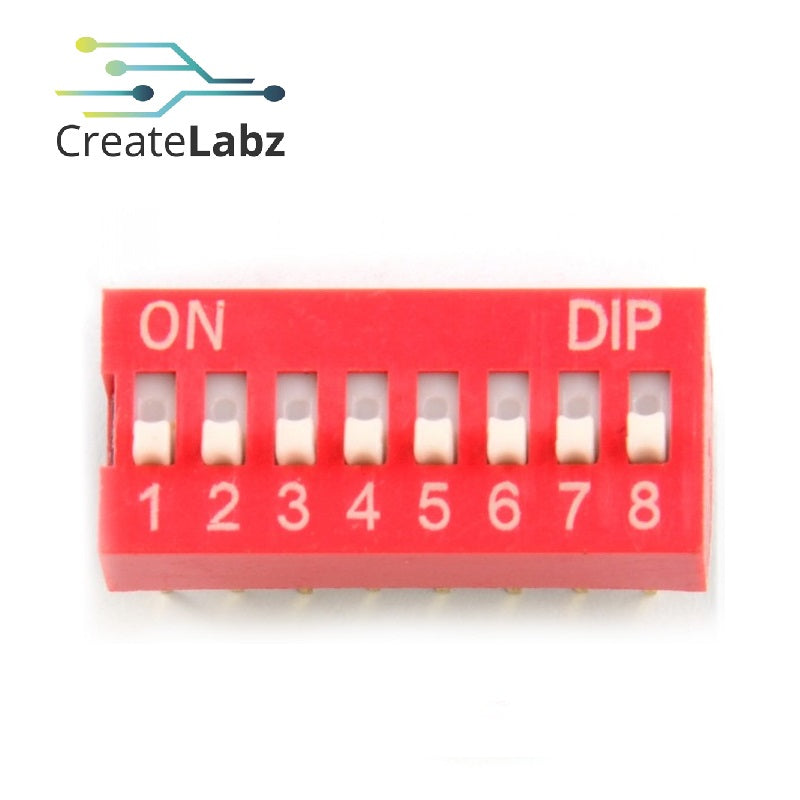 DIP Switch 8-channel/4-channel 2.54mm pitch