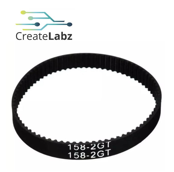 2GT Closed Loop Timing Belt 6mm x 158mm