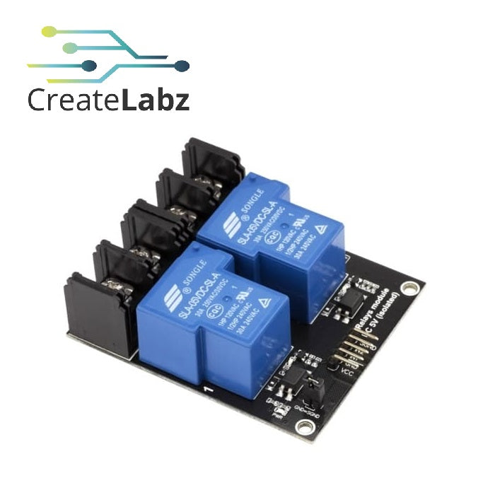 Relay Module  2-channel relay,  5V low level trigger 30A contacts