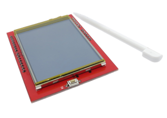 2.4-inch TFT LCD Touchscreen Shield for Uno/Mega   with Touch Pen, Driver: SPFD5408, micro-SD card slot