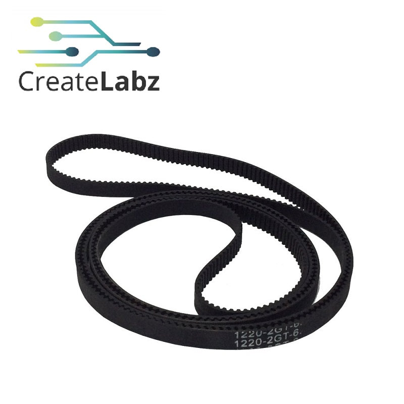 2GT Closed Loop Timing Belt 6mm x 1220mm