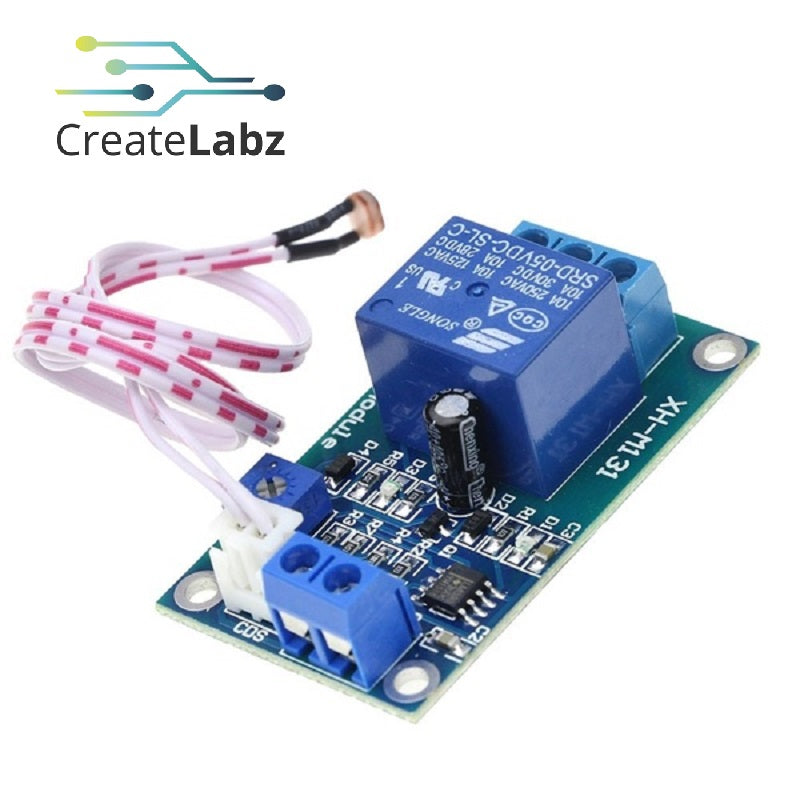 Light Control Switch Relay (12V, with Photoresistor XH-M131)