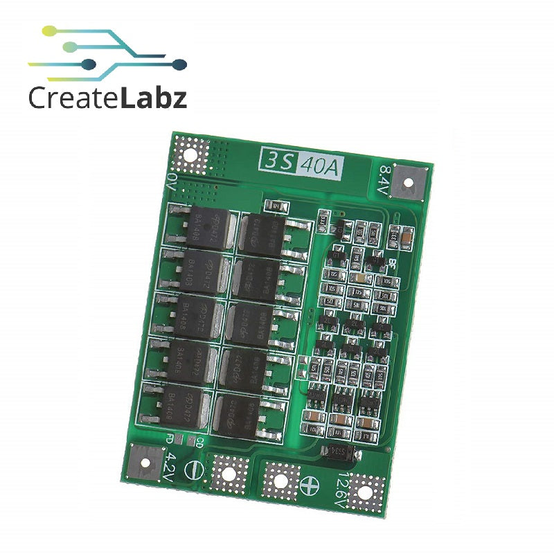 Li-ion Battery Protection Module 3S 40A 18650, 11.1V-12.6V BMS PLM Charge/Discharge Protection