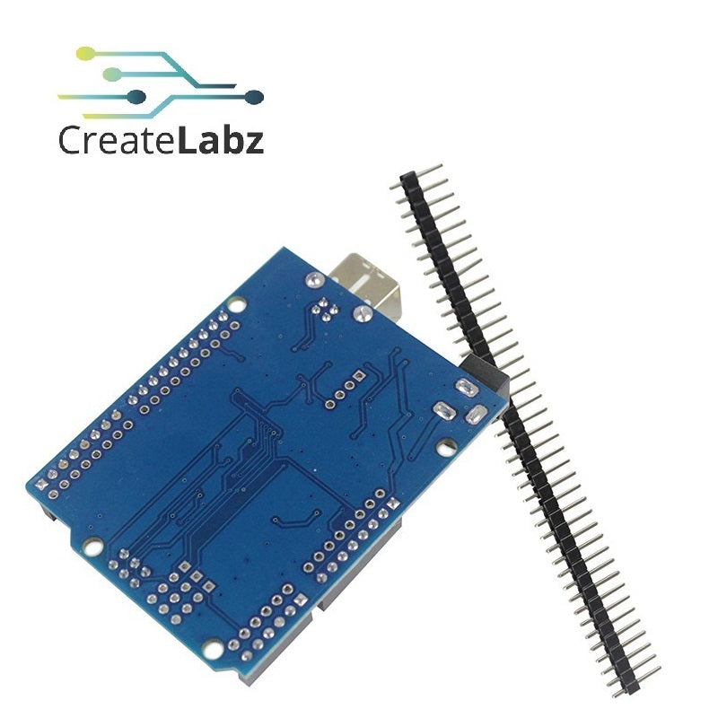ARDUINO UNO R3 Compatible  CH340G USB-serial - blue, with cable