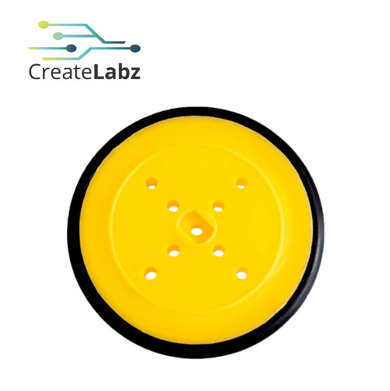 Super Thin Profile wheel, 40mm Yellow  for smart robot car