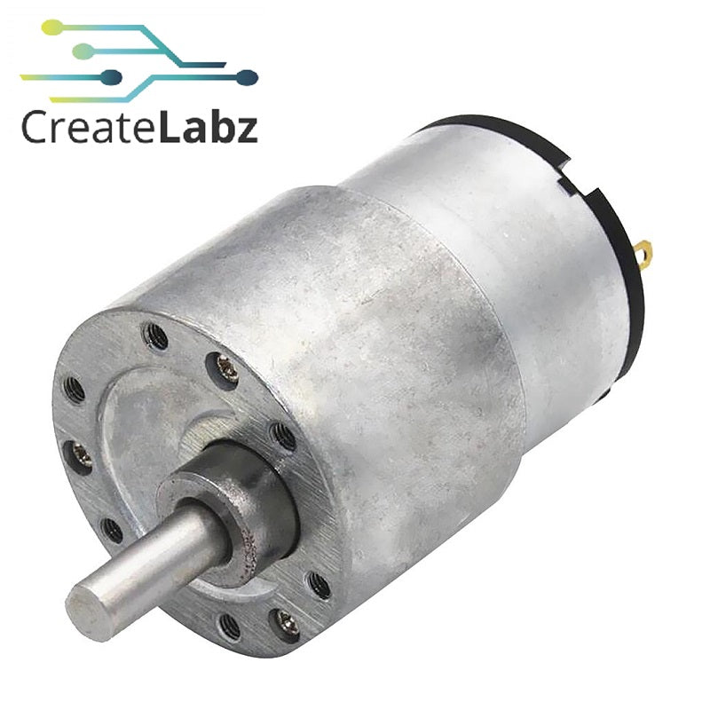 Type 37 High Torque DC motor 12V 70RPM speed reduction gear box