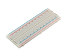 Breadboard Self-Adhesive white, 800 Tie points  16.6x5.5x0.85cm