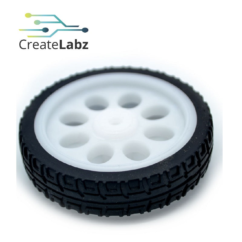 White Thin Mini Wheel 65mm