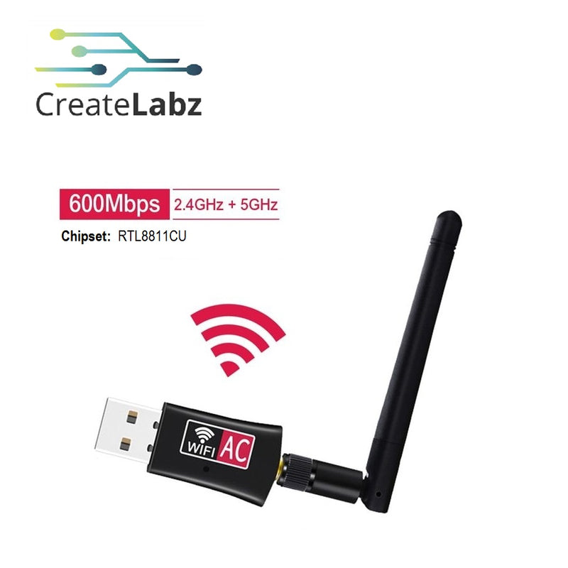 USB Wifi Adapter 600Mbps 2.45GHz Dual Band USB Wifi Dongle RTL8811CU Chip Set