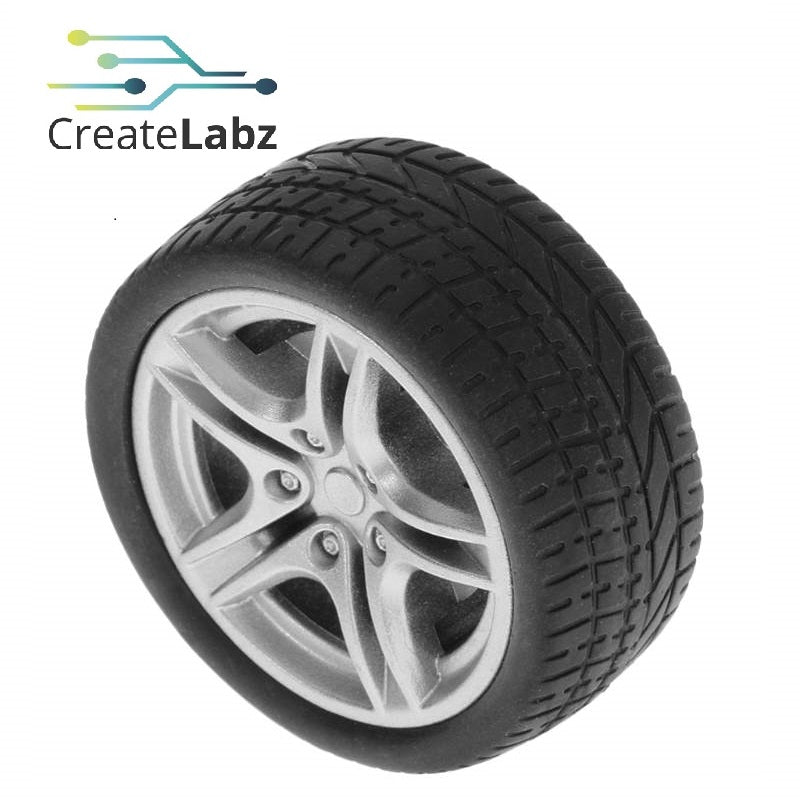 Rubber Wheel, Grey, 40/48mm for smart robot car